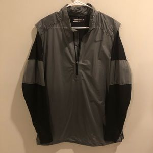 Nike Golf Windbreaker Lightweight Gray And Black